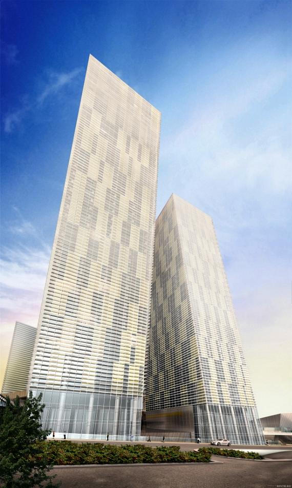 Artists concept of Veer Towers at MGM CityCenter - Photo credit: CityCenter Land LLC