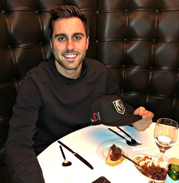 Vegas Golden Knights forward, Alex Tuch, Dines at Andiamo Italian Steakhouse Prior to Clinched Playoff Berth