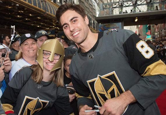 Vegas Golden Knights Alex Tuch with Fans