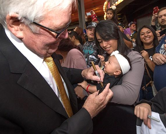 Vegas Golden Knights Bill Foley signs at Fan Fest