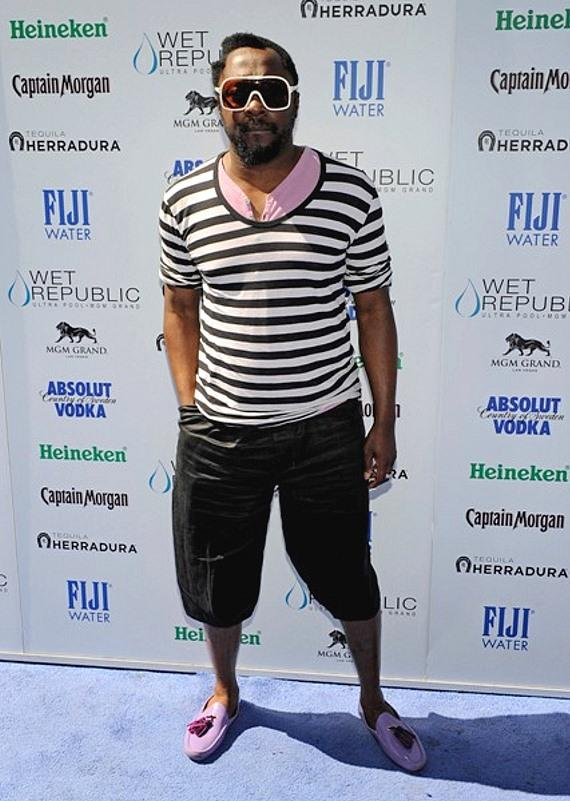 will.i.am on carpet at WET REPUBLIC
