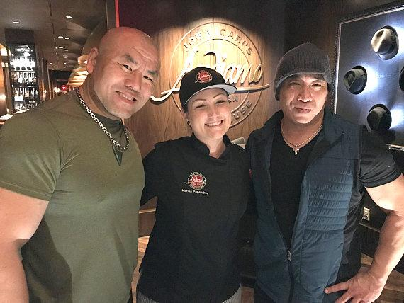 Woon Park with Andiamo Chef Marissa and Ron Yuan in Las Vegas