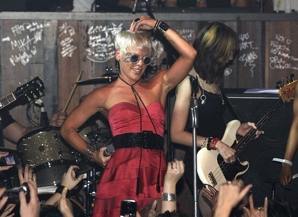 Pink's New Year's Eve Performance at Wasted Space