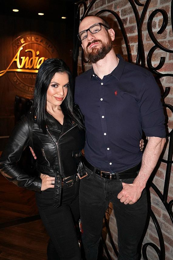 WWEe Aiden English with wife/actress Shaul Guerrero at Andiamo Las Vegas