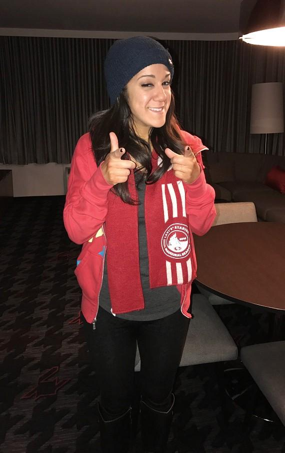 WWE Star Bayley at the D Casino Hotel Las Vegas