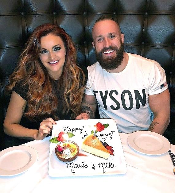 WWE couple Maria and Mike Kanellis celebrate their Anniversary at Andiamo Italian Steakhouse Las Vegas