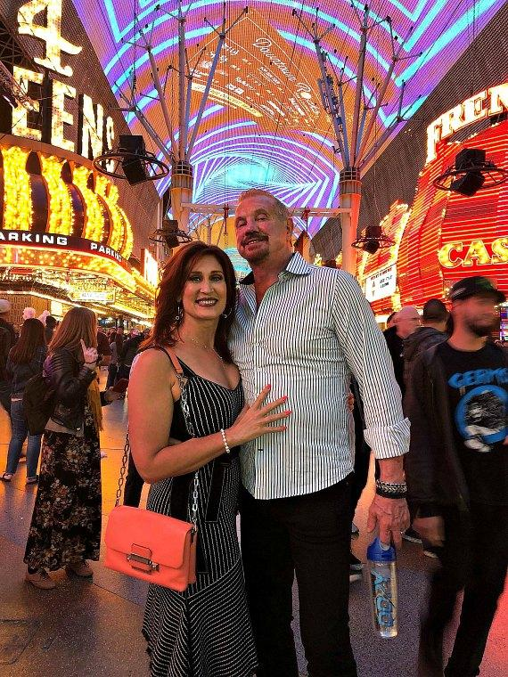 WWE Diamond Dallas Page and his wife Brenda at Fremont Street Experience Las Vegas