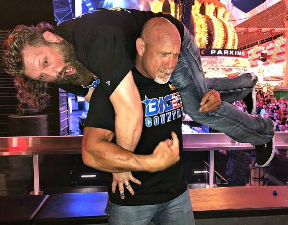 "WWE Goldberg and MMA ""Big Country"" at The D Casino Hotel Las Vegas"
