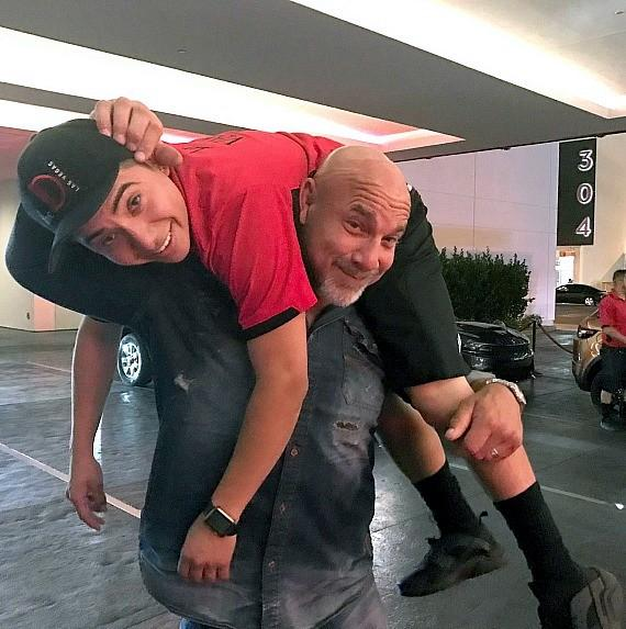 WWE Goldberg thanking his driver at the D Casino Hotel Las Vegas