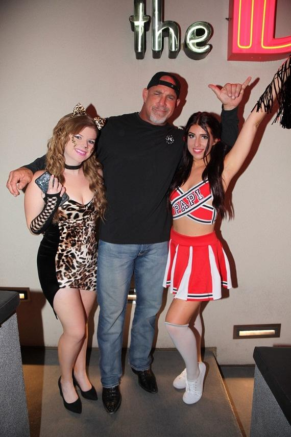 WWE Icon Bill Goldberg poses with the D Casino Social Media Girls in Las Vegas