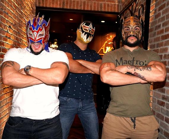 WWE Lucha House Party Kalisto with Gran Metalik and Lince Dorado at Andiamo Italian Steakhouse Las Vegas
