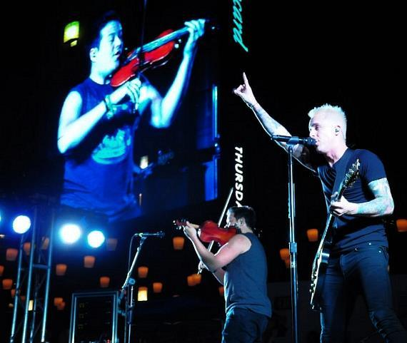 Yellowcard performs at The Boulevard Pool for The Cosmopolitan of Las Vegas' Set Your Life To Music Series
