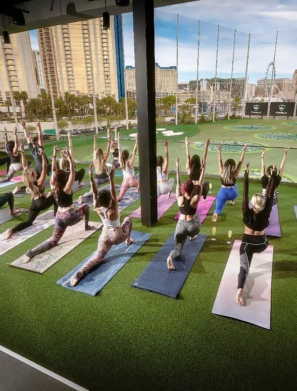 """Enjoy a Mimosa with Your Yoga at Topgolf Las Vegas with the Return of """"Yoga With a View"""""""