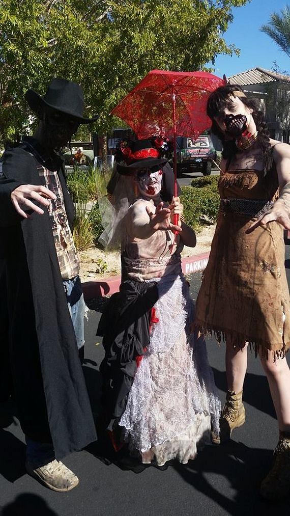 Zombies at UFC's Halloween Party